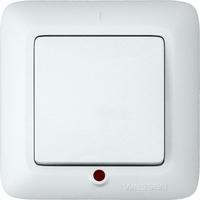 ПРИМА Выключатель одноклавишный скрытый с индикацией 250В 6А белый S16-053-B Schneider Electric, цена, купить