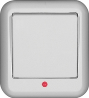 ПРИМА Выключатель одноклавишный наружный 250В 6А белый монтажная пластина A16-046M-B Schneider Electric, цена, купить