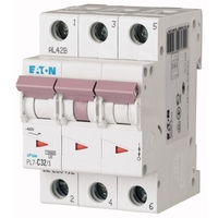 Выключатель автоматический 32А кривая отключения C 3 полюса отключающая способность 10 кА PL7-C32/3 263412 EATON, цена, купить