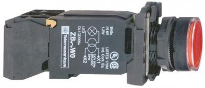 КНОПКА 22ММ 110-120В КРАСНАЯ С ПОДСВЕТКОЙ ВОЗВРАТОМ   XB5AW3435 Schneider Electric цена, купить