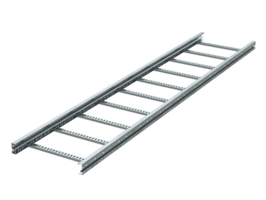 Лоток лестничный 400х100 L3000 сталь 2мм (лонжерон) цинк-ламель DKC ULH314ZL (ДКС) 100х400 цена, купить