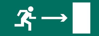 Наклейка Направление к эвакуационному выходу направо 1005150300 Ардатовский СТЗ, цена, купить