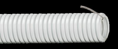 Труба гофрированная ПВХ d16мм с протяжкой сер. (уп.100м) IEK CTG20-16-K41-100I (ИЭК) гибкая 16мм купить в Москве по низкой цене