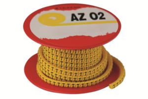 """Колечко маркировочное """"2"""", 1,3-2,5мм. черное на желтом код AZO202BY DKC (ДКС) купить по оптовой цене"""
