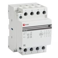 Модульный контактор для распределительного щита 63А 230-400В напряжение управления 184В 4НО 0НЗ 5000Вт 2700ВА EKF КМ Модульные контакторы купить по оптовой цене