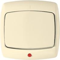 РОНДО С/У Сл. кость Выключатель 1-клавишный с подсветкой 6А (в сборе)   S16-066-SI Schneider Electric купить по оптовой цене