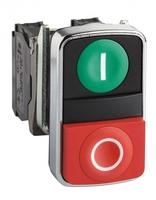 Кнопка двойная 22мм зеленая/красная Пуск-Стоп 1но+1нз Schneider Electric XB4BL73415 С МАРКИРОВКОЙ купить в Москве по низкой цене