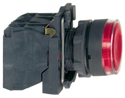 Кнопка красная 22мм с подсветкой 230-240В 1но+1нз Schneider Electric XB5AW34M5 без фикс купить в Москве по низкой цене