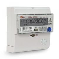 Счетчик электроэнергии однофазный многотарифный (двухтарифный) Нева124 AS OP 60/5 Т4 D 220В оптопорт неразборный корпус (6105277) ТАЙПИТ купить по оптовой цене