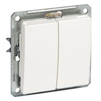 Механизм Выключатель двухклавишный ВС516-252-1-86/VS516-252-1-86 Wessen W59 Schneider Electric купить по оптовой цене