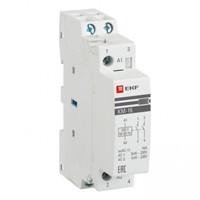 Модульный контактор для распределительного щита 20А 230-400В напряжение управления 184В 2НО 0НЗ 1000Вт 720ВА EKF КМ Модульные контакторы купить по оптовой цене