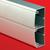 Алюминиевый кабель-канал 140х50 (с 2 крышками), цвет серый металлик код 01499 DKC (ДКС)