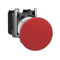 Кнопка красная с фиксацией 22мм Гриб Schneider Electric АВАРИЙНОГО ОСТАНОВА 1HO+1H3 XB4BT845 купить в Москве по низкой цене