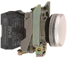СИГНАЛЬНАЯ ЛАМПА 22ММ 230-240В  XB4BVM1  Schneider Electric белая XB4BVM1 купить в Москве по низкой цене