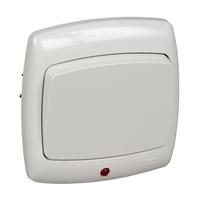 Переключатель скрытой установки одноклавишный с индикацией (6А) С66-004-би/S66-004-BI Wessen РОНДО Schneider Electric купить по оптовой цене