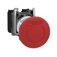 Кнопка аварийной остановки возврат поворотом 1НЗ триггерного действия металл. SchE XB4BS8442 Schneider Electric