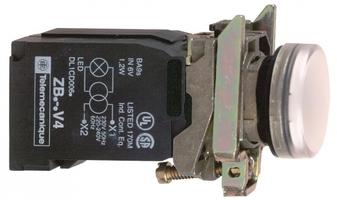 Лампа сигнальная 22мм с трансф. пит. бел. подсветкой SchE XB4BV41 Schneider Electric цена, купить