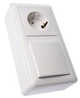 Коробка подъемная W59 для наружного монтажа с рамкой 2-местная бел. SchE KP-252-18 Schneider Electric купить по оптовой цене