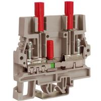 Зажим SCB.6/DDGR тестовый с разъединителем для вольтметра 6 кв.мм серый ZSB210GR DKC, цена, купить