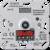 Потенциометр для регулирования люминесцентных ламп с кнопкой JUNG 240-31