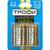 Батарейка 1.5В 50.5мм пальчиковая aa/am 3 lr6 щелочная марганцевая (алкалиновая) ТРОФИ Б0015136