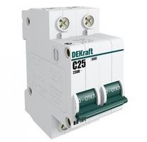 Выключатель автоматический двухполюсный ВА-101 10А C 4,5кА | 11065DEK DEKraft Schneider Electric купить по оптовой цене