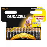 Батарейка Щелочнная (Алкалиновая) (AAA) LR03-12BL BASIC NEW | Б0014520 81480379 Duracell купить по оптовой цене