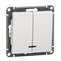 Механизм выключателя 2-кл. СП W59 10А IP20 10АХ с подсветкой бел. SchE VS510-251-1-86 Schneider Electric купить по оптовой цене