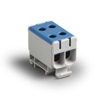 Блок клеммный распределительный синий Al 6-50мм.кв Cu 2.5-50мм.кв 4 подключения (KE66.2R) Ensto купить по оптовой цене