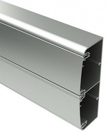 Кабель-канал алюминиевый 140x50 с двумя крышками белый 11499 DKC, цена, купить