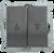 Механизм выключателя жалюзи 2-кл. СП Bolero 10А IP20 ВС10-1-5-Б антрацит IEK EVB25-K95-10 (ИЭК)
