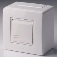 Коробка универсальная 1 выключатель для миниканала 10002B DKC, цена, купить