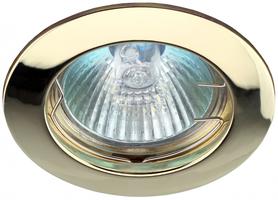 Светильник встраиваемый литой MR16 KL1 GD 12V, 50W золото (100/2100) ЭРА (Энергия света) C0043655 точечный купить в Москве по низкой цене