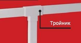 Угол плоский Т-образный IM 15х17 In-liner 535 DKC, цена, купить