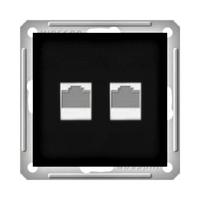 Розетка информационная 2-м СП W59 без рамки CAT.5E черн. бархат SchE RSI-251KK5E-6-86 Schneider Electric купить по оптовой цене