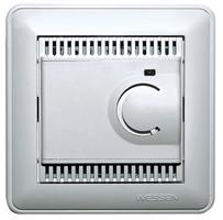 Термостат теплого пола электронный 10A датчик матовый хром TES-151-58 Schneider Electric, цена, купить