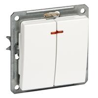 Механизм выключателя 2-кл. СП W59 16А IP20 с индик. сл. кость SchE VS516-251-2-86 (ВС516-251-2-86) Schneider Electric купить по оптовой цене