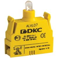 Блок контактный с клеммными зажимами под винт со светодиодом на 220В ALVL220 DKC, цена, купить