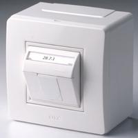 Коробка для миниканалов с телефонной/компьютерной розеткой 10665 DKC, цена, купить