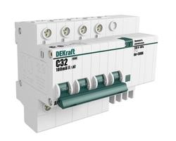 Выключатель автоматический дифференциального тока 4п C 32А 30мА тип AC 4.5кА ДИФ-101 DeKraft 15023DEK Schneider Electric купить по оптовой цене