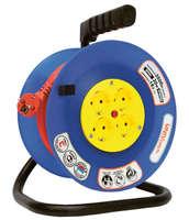 Удлинитель на катушке 4х20м с заземл. 10А IP44 ВЕМ-250 термо ПВС 3х0.75 розетки защ. шторками UNIVersal 9634151 1679 купить по оптовой цене