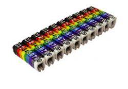 Маркер наборный - символ 1 коричневый 1,5 мм2 (150 шт.) SQ0534-0002 TDM