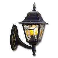 Светильник Crespo 100Вт E27 IP44 бра вверх декор. стекло черн./зол. DUWI 24079 2 купить в Москве по низкой цене
