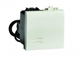 Выключатель с подсветкой, белый, 2модуля (BRAVA) код 76002BL DKC (ДКС) купить по оптовой цене
