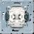 Выключатель одноклавишный (механизм) универсальный 10A (506U) JUNG
