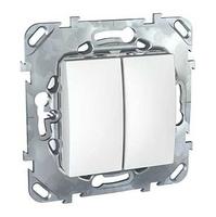 Механизм переключателя 2-кл. СП Unica 10А IP20 (2х(сх. 6)) бел. SchE MGU5.213.18ZD Schneider Electric двухклавишный в рамку купить в Москве по низкой цене