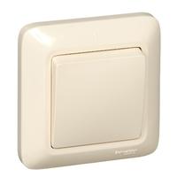 ПРИМА Выключатель одноклавишный скрытый бежевый индивидуальная упаковка VS1U-116-SI Schneider Electric, цена, купить