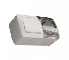 Выключатель-блок 1-кл. EVA + розетка с заземл. c крышкой IP54 ABB 554-011500-920 купить по оптовой цене