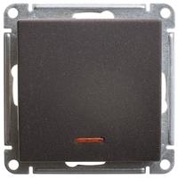 Механизм переключателя 1-кл. W59 с подсвет. 10АХ черн. бархат SchE VS610-157-6-86 Schneider Electric купить по оптовой цене