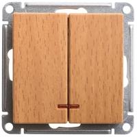 Механизм выключателя 2-кл. W59 с подсвет. 10АХ бук SchE VS510-251-8-86 Schneider Electric купить по оптовой цене